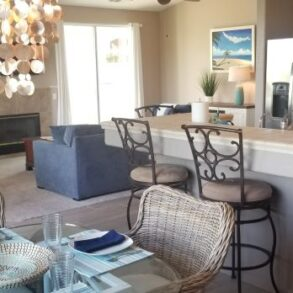 SOLD         GORGEOUS 2 + DEN/3RD BEDROOM VILLA WITH SPECTACULAR VIEWS OF CIELO 5 GREEN AND SAN GORGONIO MNTS – 67548 S. LAGUNA – LISTING #219036123