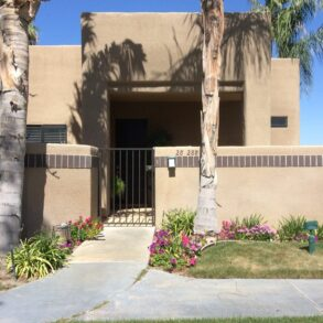 PENDING!  STUNNING VIEW!       VIRTUAL TOUR AVAILABLE!  ONE OF THE BEST VIEWS IN DESERT PRINCESS!  3 BEDROOM CONDO – 28288 DESERT PRINCESS DRIVE – LISTING #219042204 –