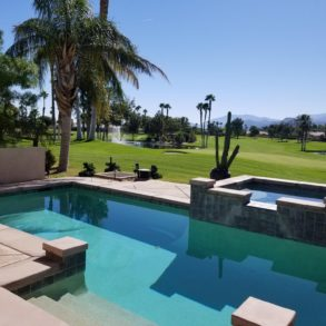 SOLD!  GORGEOUS REMODELED VILLA WITH POOL AND PHENOMENAL VIEWS SOUTH OF 2 FAIRWAYS, 2 PONDS AND MOUNTAINS!  67401 N. LAGUNA – LISTING #219017329
